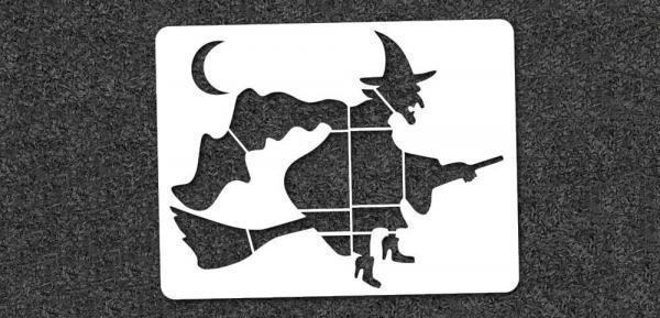 Witch - Mini Stencil