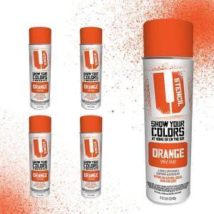 Spray Paint Orange 4 pack