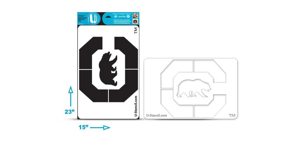 California Berkeley C Bear Multi-Purpose Stencil