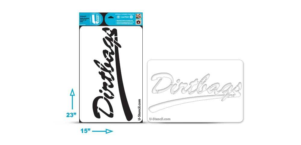"California State Long Beach ""Dirtbags"" Multi-Purpose Stencil"