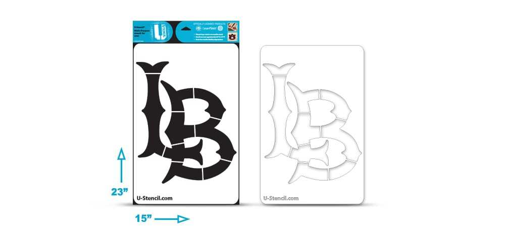 "California State Long Beach ""LB"" Multi-Purpose Stencil"