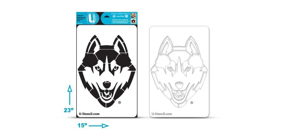 Connecticut Husky Multi-Purpose Stencil