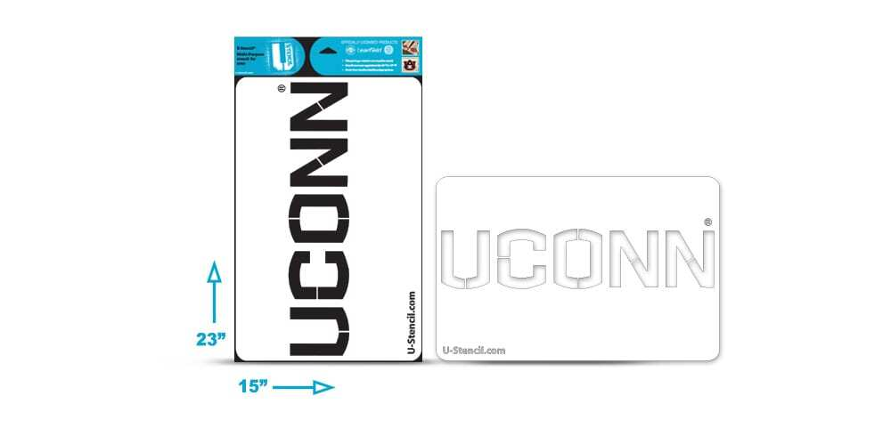 "Connecticut ""UCONN"" Multi-Purpose Stencil"