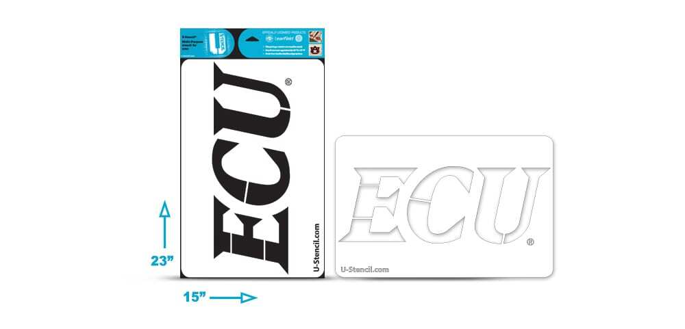 "East Carolina ""ECU"" Multi-Purpose Stencil"