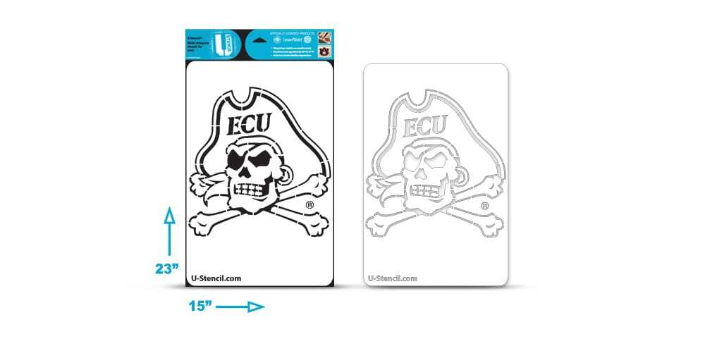 East Carolina Pirate Multi-Purpose Stencil