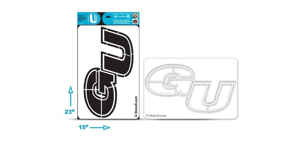 "Gonzaga ""GU"" Multi-Purpose Stencil"