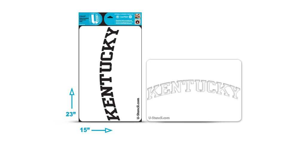 "University of ""Kentucky"" Multi-Purpose Stencil"