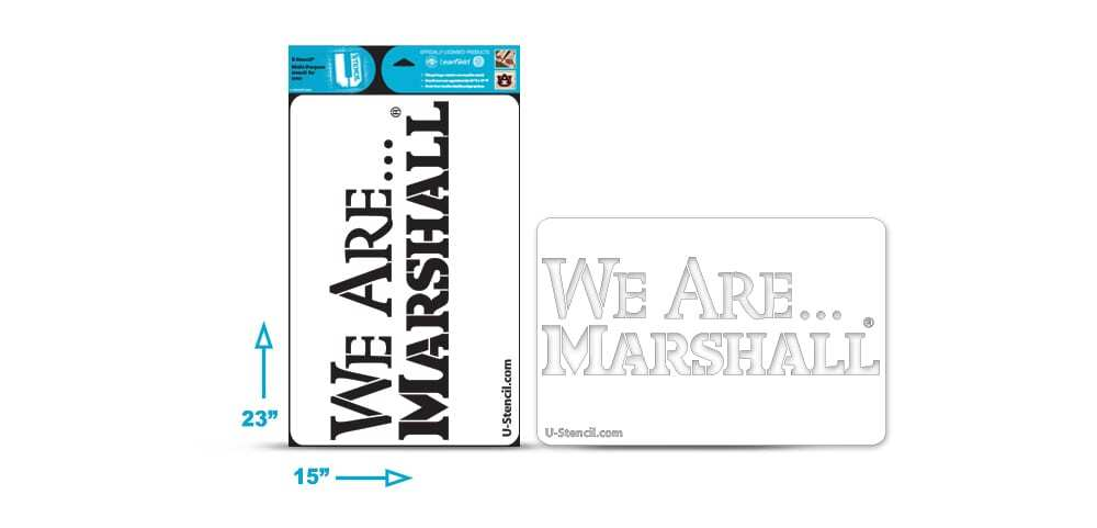 "Marshall ""We Are Marshall"" Multi-Purpose Stencil"