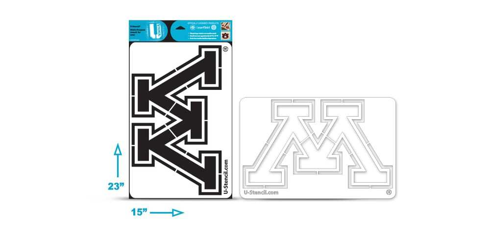 "Minnesota ""M"" Multi-Purpose Stencil"