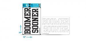"""Oklahoma """"BOOMER SOONER"""" - Multi-Purpose Stencil"""