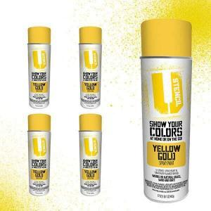 Spray Paint Yellow Gold 4-Pack