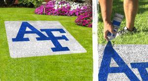 """Air Force Academy """"AF"""" Lawn Stencil"""