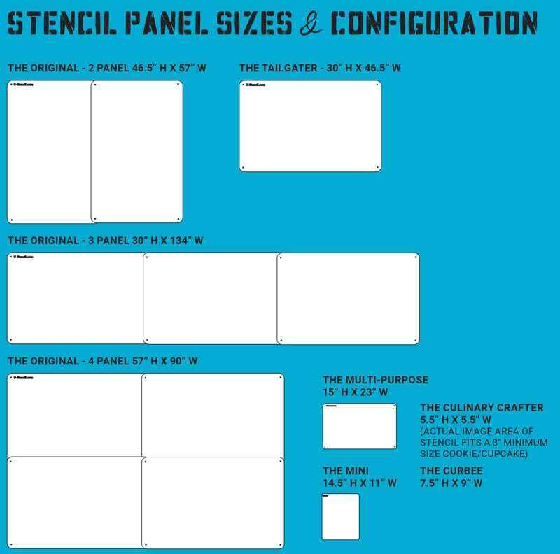 Stencil Configuration and Size Chart