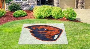 Oregon State Beaver lawn stencil kit