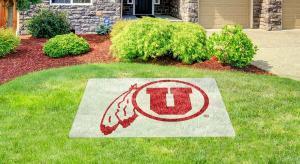 University of Utah lawn stencil kit