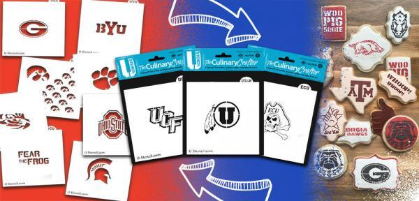 Officially Licensed Collegiate Culinary Crafter Stencil 3-Pack Example