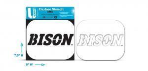 NDSU BISON curb stencil