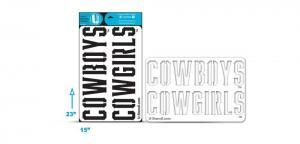 OSU COWBOYS with COWGIRLS stencil