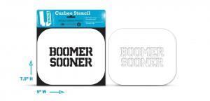 Boomer Sooner curb stencil