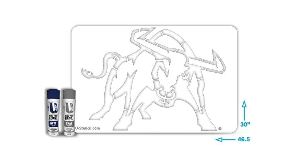 Utah-State-Bull tailgater stencil kit