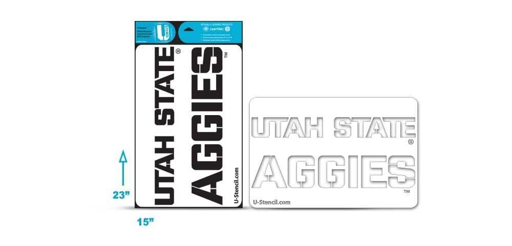 "Utah State ""AGGIES"" multipurpose stencil"