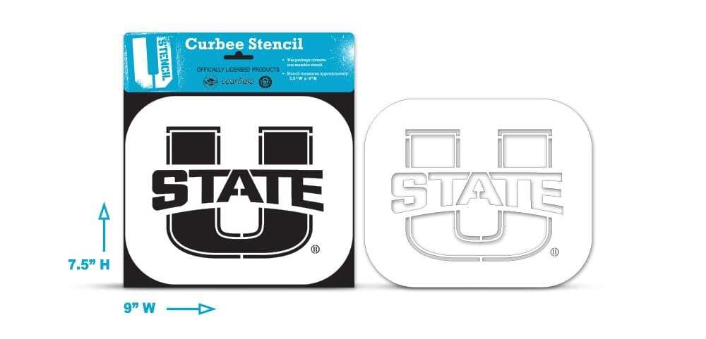 Utah State curb stencil
