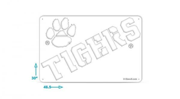 Officially licensed Clemson Tigers tailgater stencil