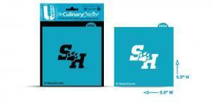 """Sam Houston """"SH"""" cookie stencil"""