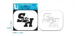 """Sam Houston """"SH"""" Curb stencil"""