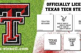 Texas Tech Culinary Crafter stencil