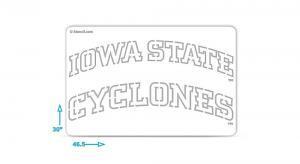 Iowa State Cyclones stencil