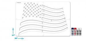USAXLSOOS-006 Amercian-Wavy-Flag