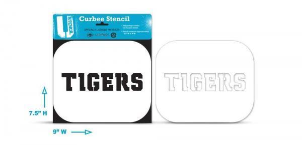 "Clemson ""TIGERS"" curb stencil"