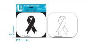 The Curbee Awareness Ribbon stencil