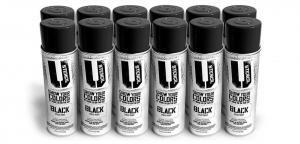 Black Spray Paint 12-Pack