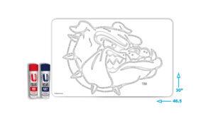 Gonzaga Bulldog stencil kit