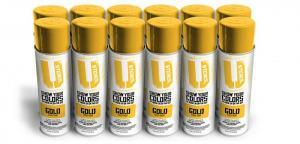 Gold Spray Paint 12-Pack