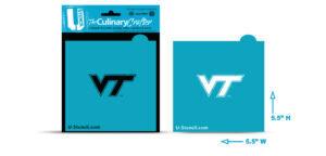 Virginia Tech VT logo stencil