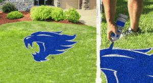 Kentucky Wildcat lawn stencil kit
