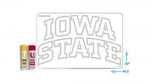 Iowa State Stencil - Lawn Stencil Kit